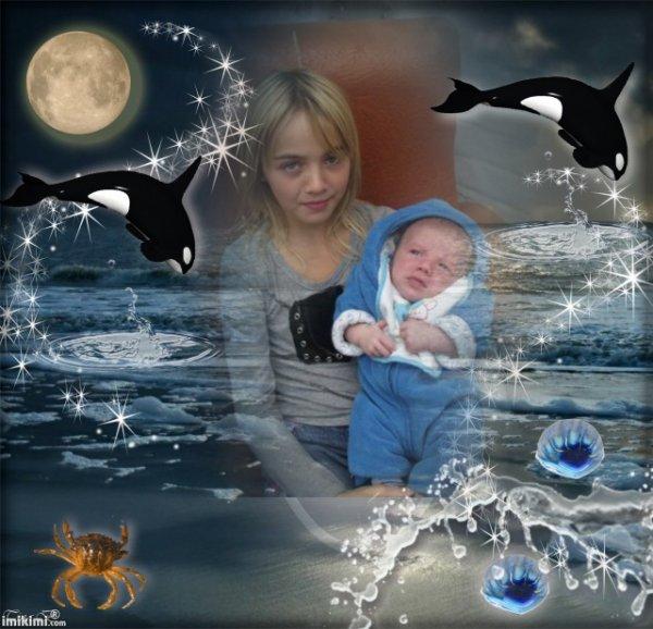 ma petite fille cassandra et mon petit fis donovan