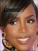 Zoom sur le maquillage de Kelly Rowland .
