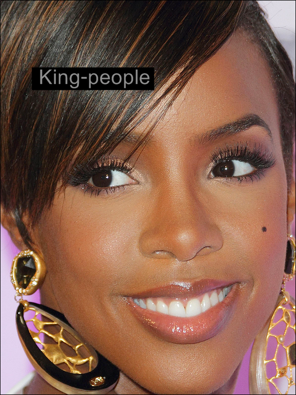 Zoom sur le maquillage de Kelly Rowland .