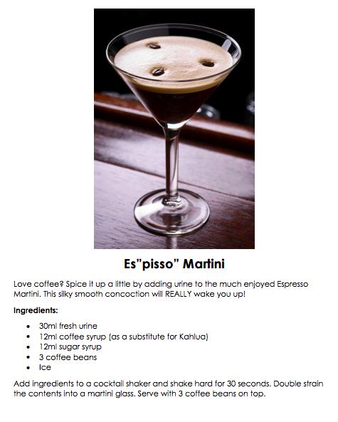 """Es """"pisso"""" Martini"""