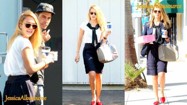 Mardi 4 septembre Jessica se rendant à son bureaux à Santa Monica + quelques photos perso et une viddy