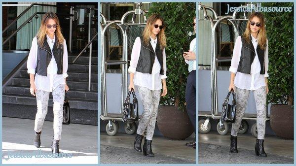 Vendredi 19 octobre  Jessica a été repéré arrivant à l'Hôtel SLS à Beverly Hills, en Californie