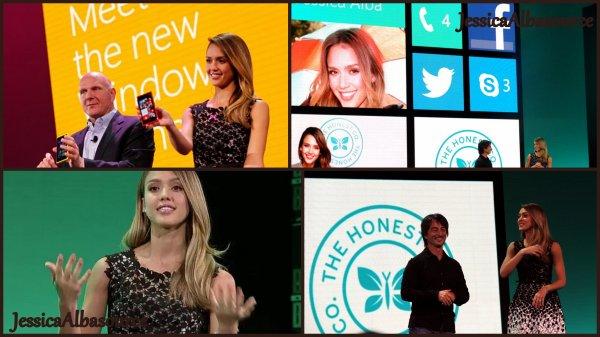 Lundi 29 Octobre Jessica , présentant les nouveaux smartphones sous Windows 8, à San Francisco + une vidéo