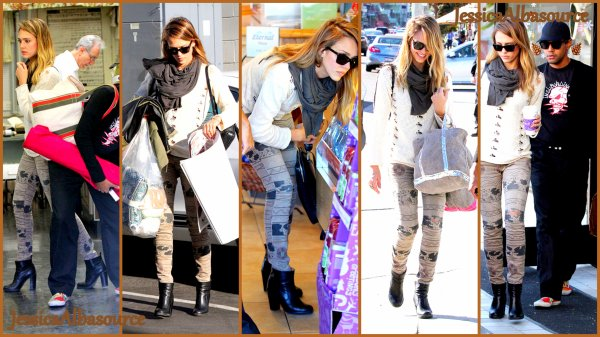 Vendredi 9 novembre  Jessica  dans un magasin de tissu à Los Angeles