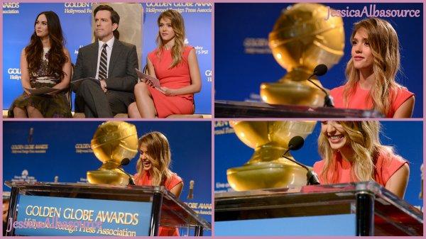 Jeudi 13 Décembre Jessica s'est rendu à la 70é édition du Golden Globe Awards