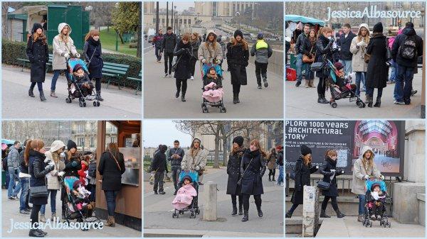 Vendredi 1 mars Jessica,Honor,Lauren et la nounou se sont rendus à Paris