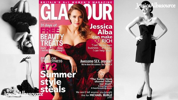 Jessica a réalisée un photoshoot pour le magazine Glamour UK édition mai 2013.Elle est superbe ;)