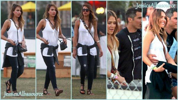 Samedi 20 avril Jessica et Cash se sont rendu au festival Coachella avec des amis