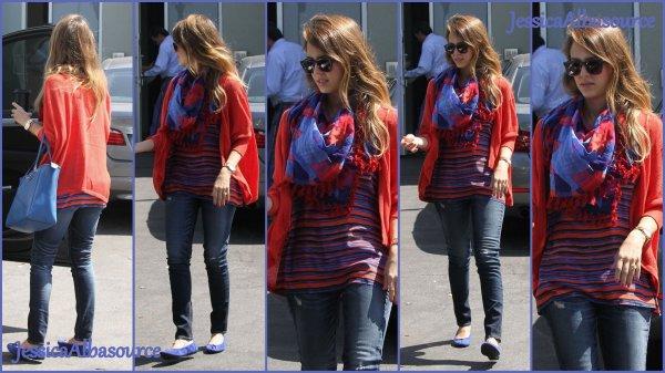 Vendredi 26 avril Jessica allant à son bureau à Santa Monica et le 27 Jessica allant faire une course rapide à Venice Beach en Californie