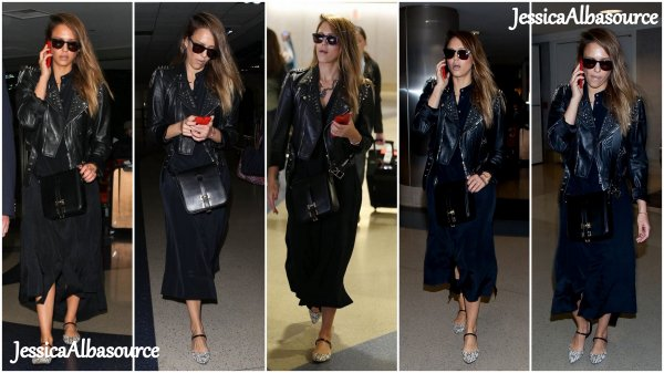 Vendredi 10 mai Jessica arrivant à LAX airport à Los Angeles