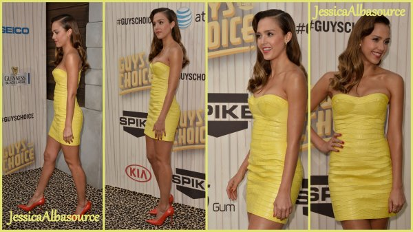 Samedi 8 juin Jessica s'est rendu au Spike TV Guys Choice 2013 au Sony Pictures Studios à Culver city en Californie + des photos persos