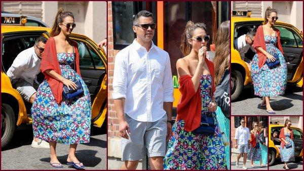 Samedi 22 juin Jessica et Cash se sont promenés à Manhattan + le Dimanche 23 juin Jessica se promenant