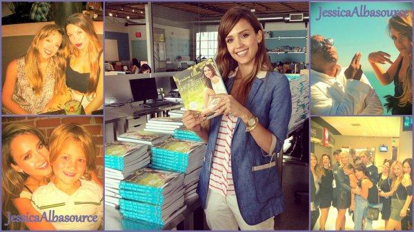 Mardi 9 juillet Jessica s'est rendu à C2B à Santa Monica pour signer quelques exemplaires de son livres -  le Mercredi 10 Jessica a été repérée à la boutique Starbucks cofee et enfin quelques photos persos