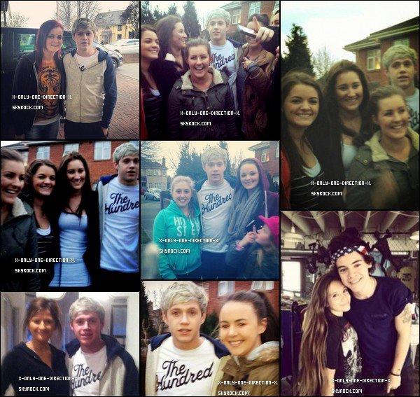 Le 25 Mars - Une semaine de libre pour les garçons, ils en profitent! Harry est allé à Los Angeles, une photo a d'ailleurs été prise avec une fan, Niall quant à lui est retourné à Dublin, il a également posé avec les fans.
