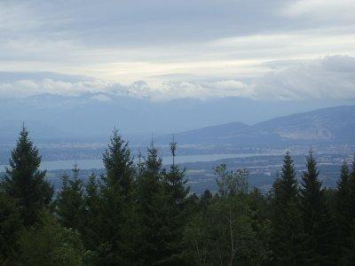 le Lac Léman vu du Col de la Faucille