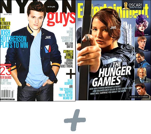 """02/03/12 : Josh faisant la couverture des Magasines Nylon Guys et Entertainement Weekly + Un Promoshoot du film """" The Hunger Games """" + En inédit, Josh dit ce qu'il a ressentit en lisant les livres """" The Hunger Games """"."""