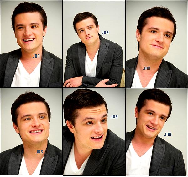 """03/03/12 : Josh à The Hunger Games L.A Press Conference. Josh à la conférence de Presse de Los Angeles parle du film """" The Hunger Games """".TOP ou FLOP ?"""