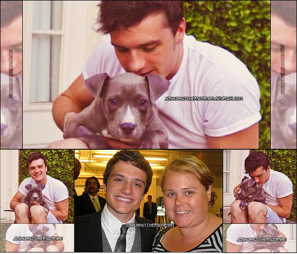 """18/04/12 : Josh aun nouveau chien qu'il vientd'adopté après une dure opération . TOP ou FLOP ? + Une nouvelle vidéo avec un passage du film """" Detention """" ."""