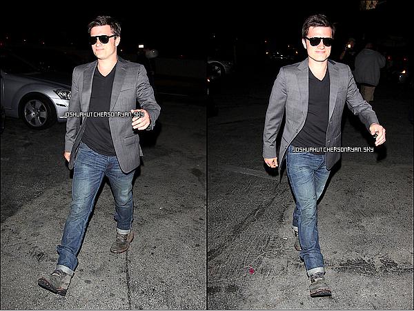 20/04/12 : Hier Josh a été vu quittant le château Marmont après une soirée avec des amis à Hollywood. TOP ou FLOP ? + Des scans en exclusivité de Josh et son nouveau photoshoot.