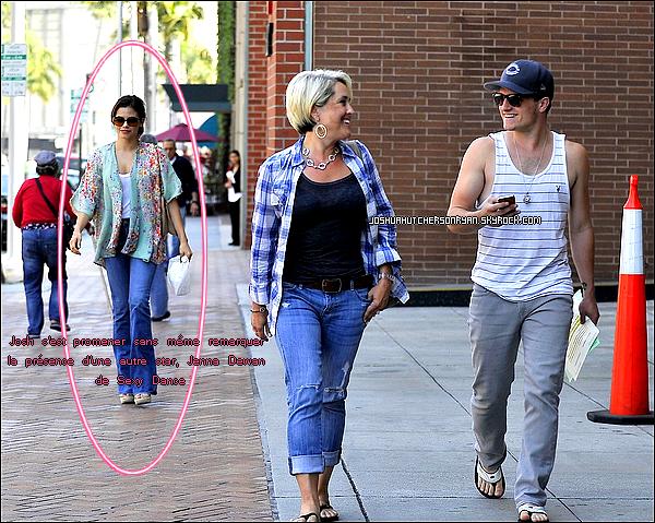 Le 08/05/12 : Josh s'est promené dans Beverly Hills avec sa mère Michelle ; - Il n'a même pas remarquer la présence d'une autre star , Jenna Dewan de Sexy Dance. ╚>TOP ou FLOP ?<╝