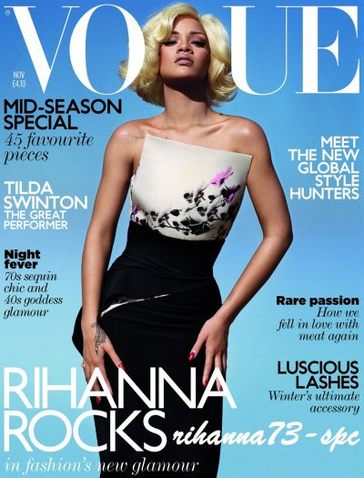 Rihanna blonde sur le magazine VOGUE ...