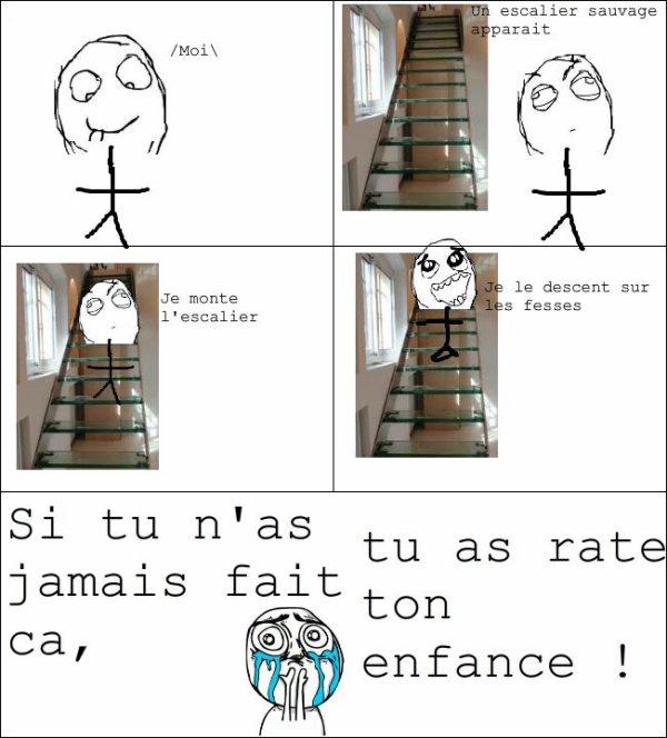 Les escaliers ..