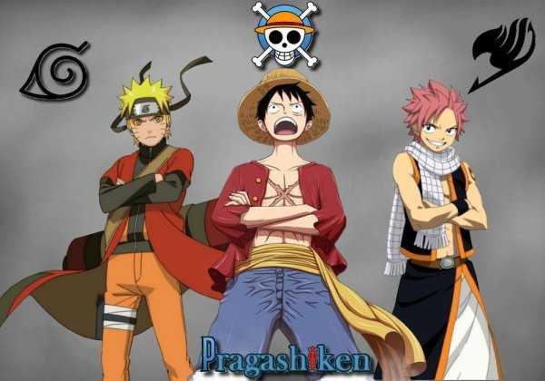 Photo de Naruto Luffy et Natsu