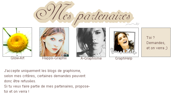 ~Partenaires .