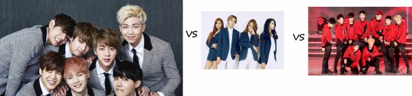 BTS vs EXO vs F(X)