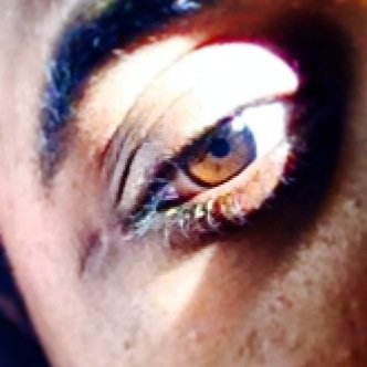 Oeil de lynx sikatrice sur le coter