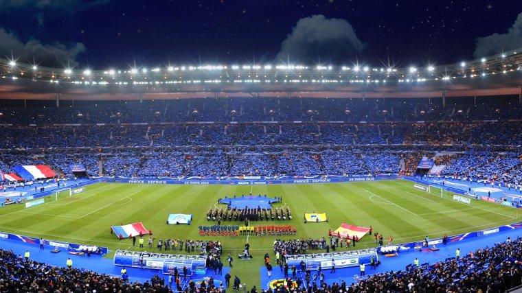 Les hymnes nationaux lors du match de l'équipe de France le 26 Mars 2013 :