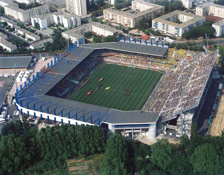 Vue aérienne du stade de la Mosson à Montpellier :