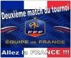 Deuxième match de l'équipe de France