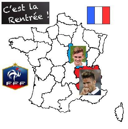 """La rentrée pour l'équipe de France de """"balle au pied""""."""
