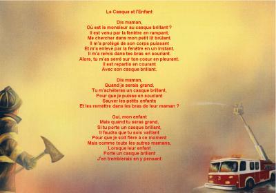 Petit Poème Les Sapeurs Pompiers