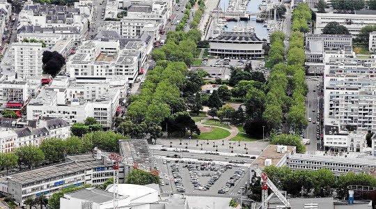 Vue du centre ville et de la Caravelle