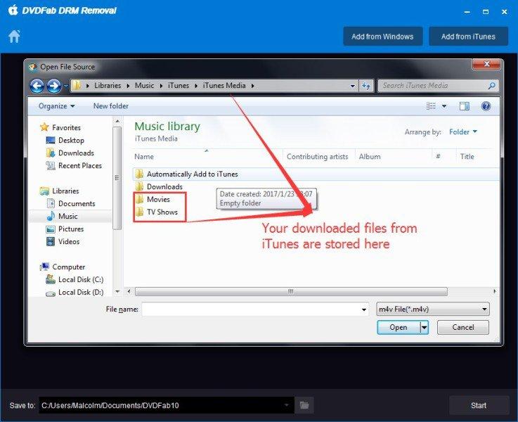 Enlever la protection DRM de vidéo et audio avec DVDFab DRM Removal for Apple