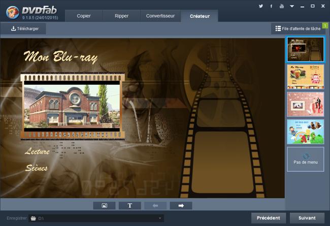 Graveur de vidéo en Blu-ray