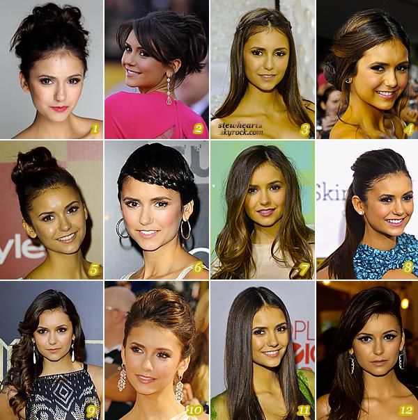 Article 05 │ Les coiffures de Nina Dobrev. posté le 05 août. 2013  ●