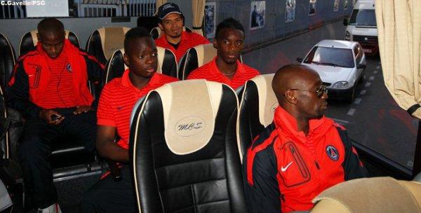 dans le bus direction le stade de france pour la final de coupe de france le 14 mai 2011
