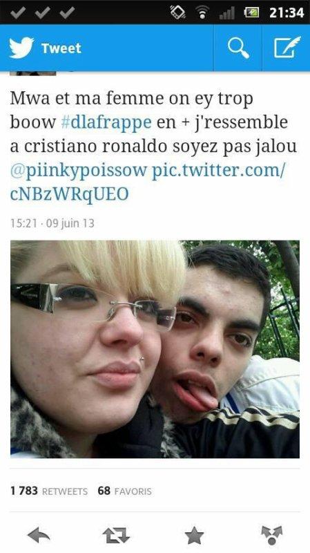 """""""je ressemble  a cristiano ronaldo""""... tout est dit"""