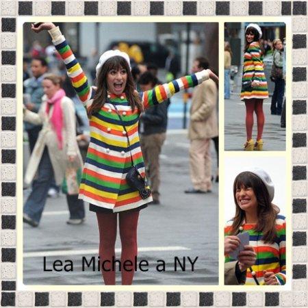 Lea Michele ést a NY pour le tournage de Glee ( Elle est Sublime )