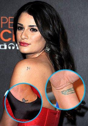 Les Tatouage de Lea Michele