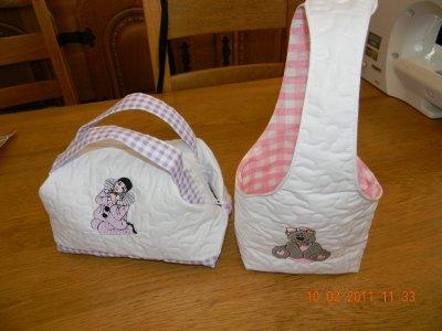 petit sac et panier
