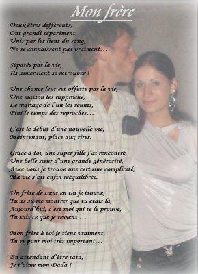 Poème Pour Mon Frère Des Poèmes Ki Viennent Du Coeur é