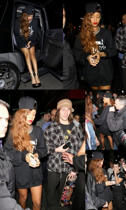 "26 Février  Rihanna au club ""Supperclub"" à Los Angeles"