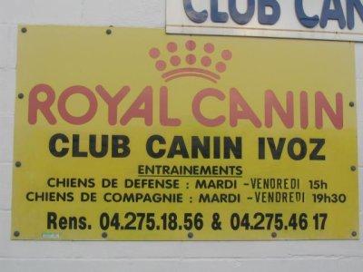 horaire pour les lecons - clun canin d'ivoz ramet