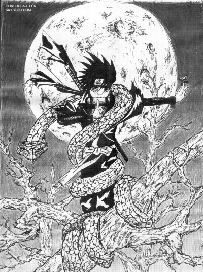 dessin manga encre