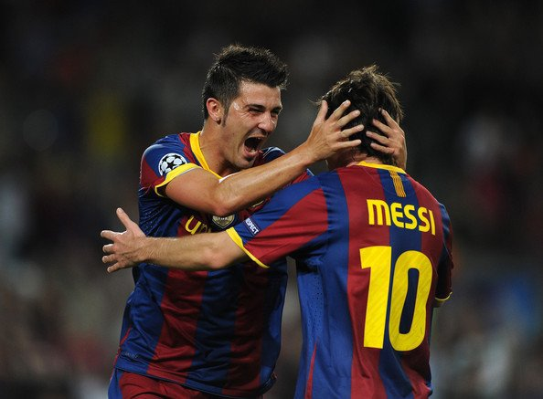 David V et Lionel Messi