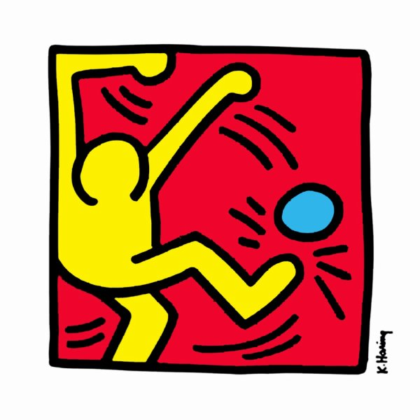 Keith Haring, foot et street art